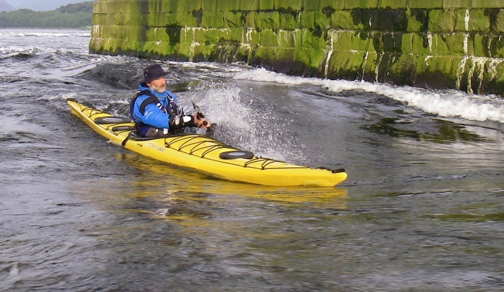 Sea Kayak On The Falls Of Lora Flood Tide  Ken Lacey